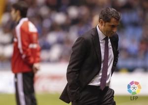 Valverde durante el partido (Foto: Lfp)