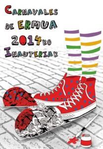 Cartel Carnavales de Ermua. Ayuntamiento de Ermua.