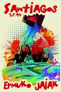 Cartel anunciador de los Santiagos 2014