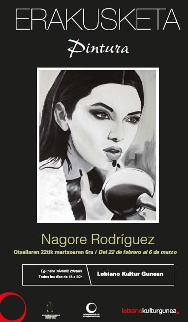 Cartel de la exposición de Nagore Rodríguez