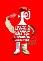 Cartel de las fiestas de Estella 2014