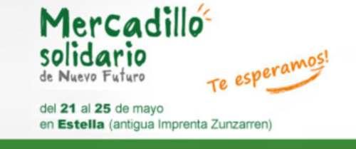 Mercadillo solidario en Estella. Foto: nuevo-futuro.org