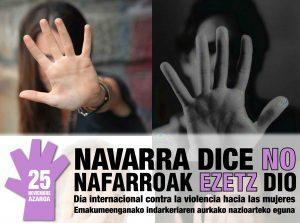 Campaña 'Navarra dice no'. Imagen de archivo: EiTB