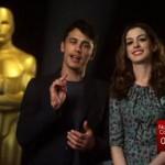James Franco y Anne Hathaway se preparan para los Oscar