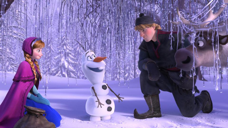 """""""Frozen"""" Anna, Olaf, Kristoff, Sven"""