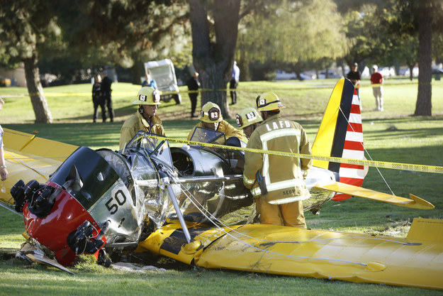 El avión, tras el accidente