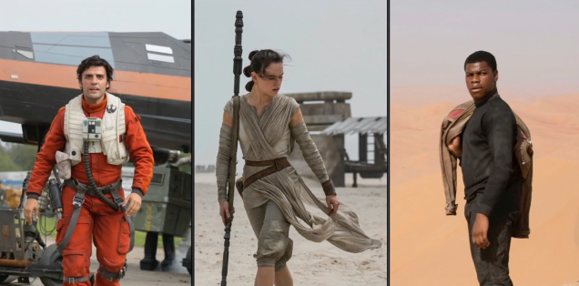 Poe Dameron, Rey & Finn