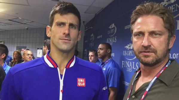 Novak Djokovic & Gerald Butler