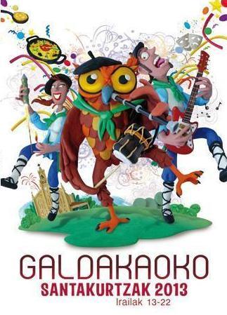 Cartel anunciador de las fiestas galdakoztarras 2013.