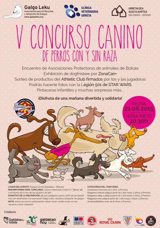 Cartel V. Concurso Canino. Foto: Galgo Leku