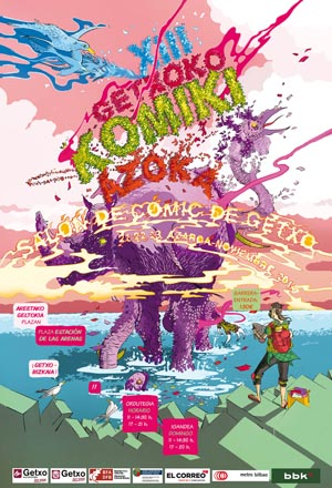 Cartel del Salón del Cómic 2014. Foto: salondelcomicdegetxo.net