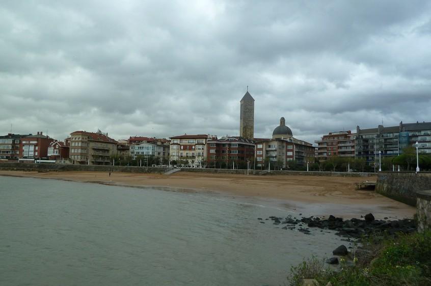 Playa de Areeta desde el muelle de Evaristo de Churruca. Foto: Mikel Otxoa