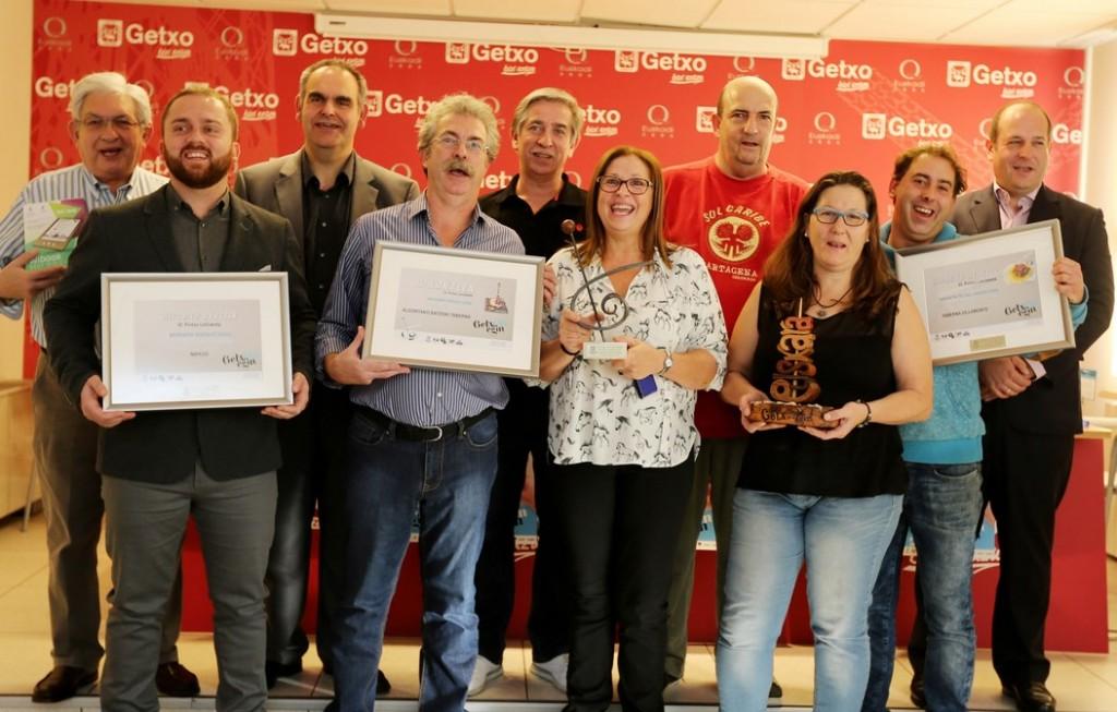 Ganadores del concuros GetxOnegin 2015. Foto: Ayuntamiento de Getxo