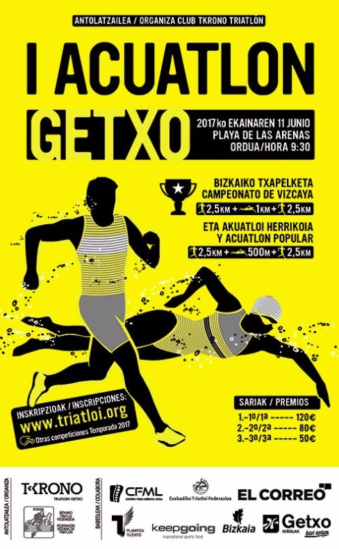 Cartel del I Acuatlón Getxo. Imagen: vamosacorrer.com