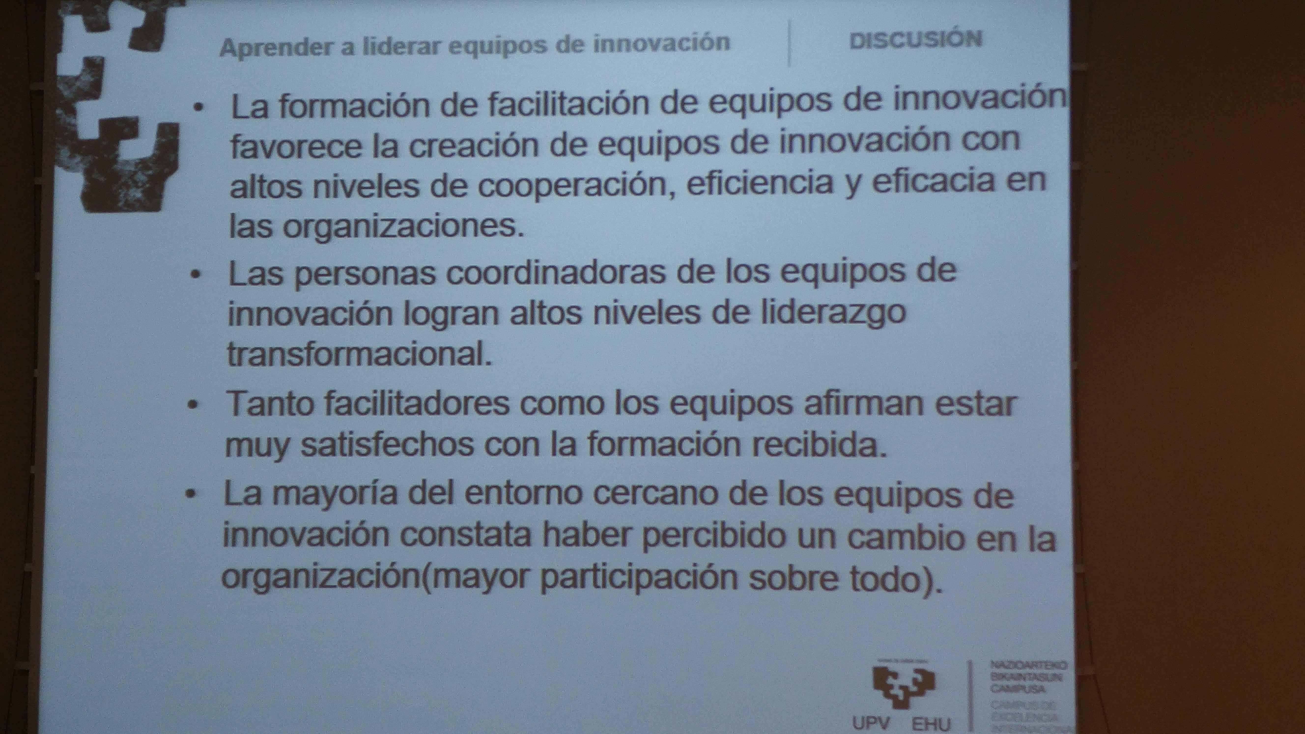 Resultados equipos Innovación