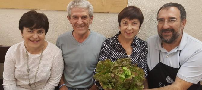 """Presentación en sociedad de la Lechuga """"Martina"""" en """"Zapardiel"""" con #SlowFood"""
