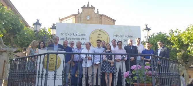 Presentación de Añada 2015 y Premios Abra en Elciego (Rioja Alavesa)