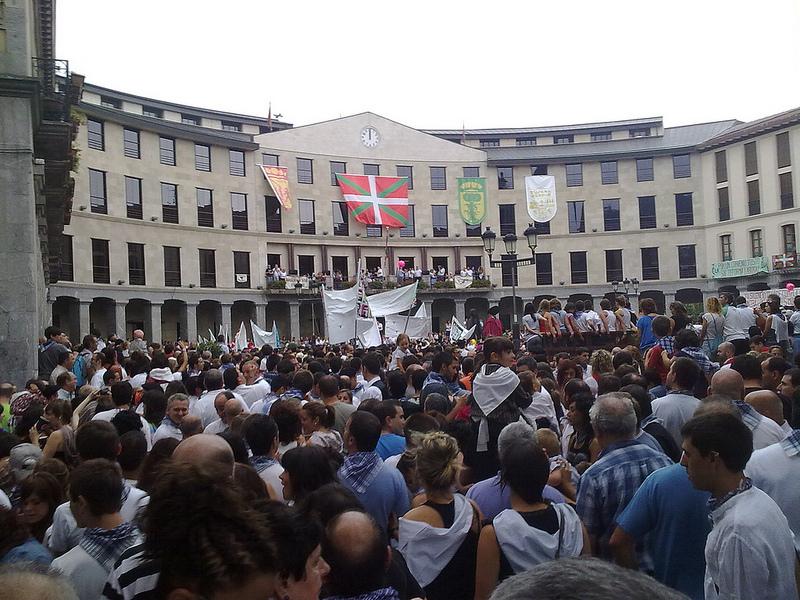 Nerea Estefanía Egiguren sacó esta foto del txupinazo de las fiestas de San Roque 2012.