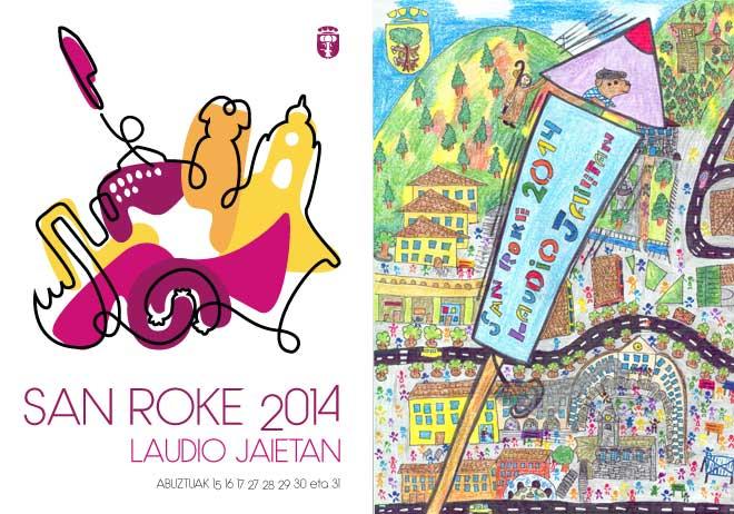 Cartel de las fiestas de Laudio 2014