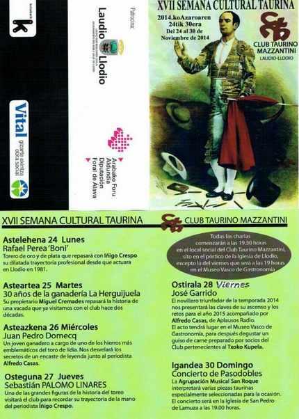 Semana Cultural Taurina 2014 en Llodio. Foto: @masterroto