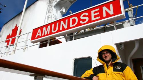 Toni Pou Amundsen ontzian. Irudia: Toni Pou / WFSJ