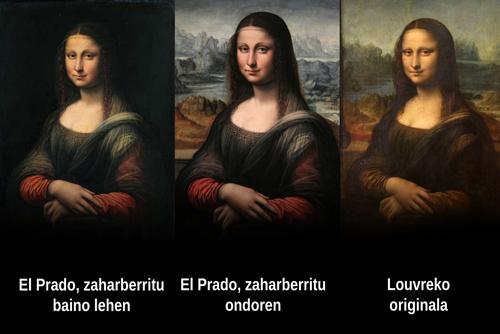 Irudia garbitu ostean originalarekiko antza asko handitu da. Irudia: Louvre / El Prado / Juanma Gallego