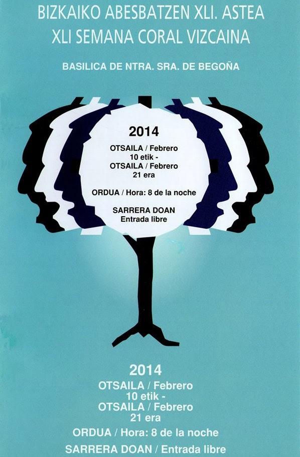 Cartel Semana Coral Vizcaína 2014
