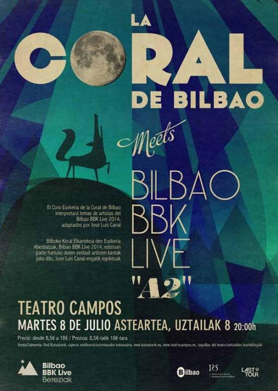 Cartel del concierto del 8 de julio. Foto: www.bilbaobbklive.com