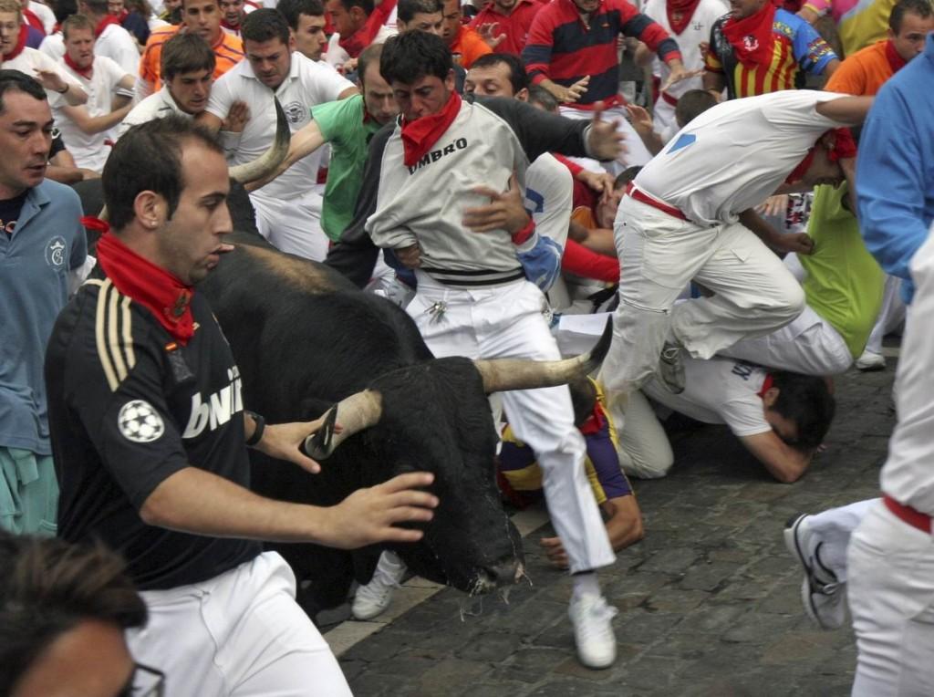 Sanfermines en Pamplona. Foto: EFE