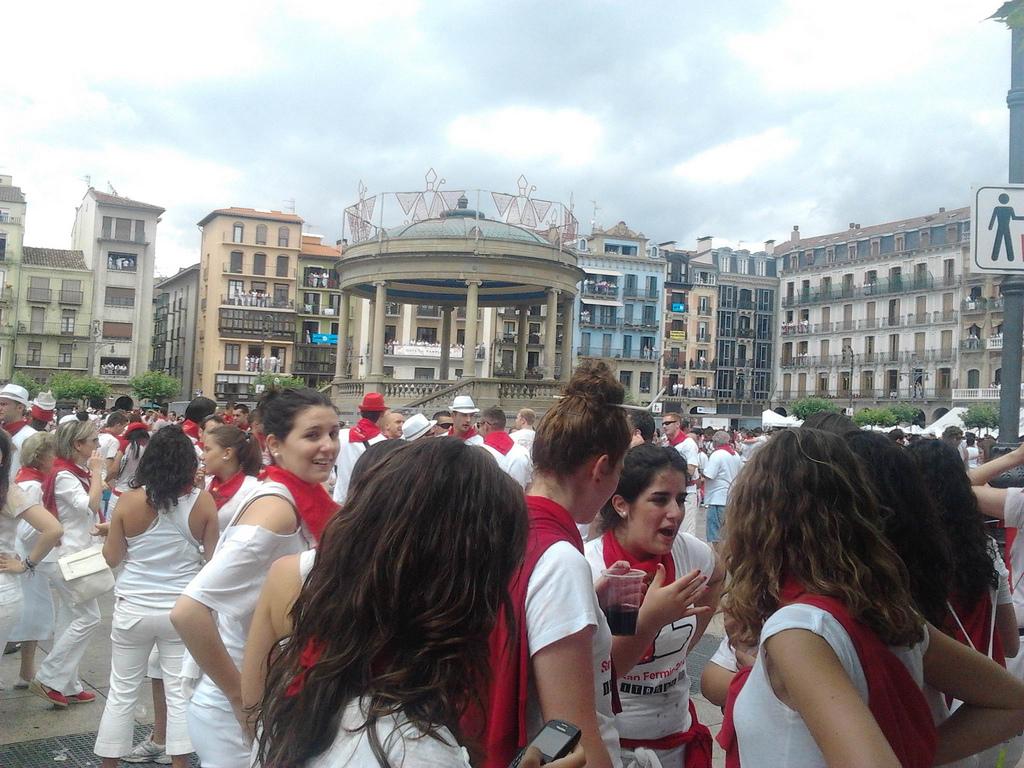 La Plaza del Castillo, en plena mañana del 6 de julio. Lontzo Sainz es el autor de la instantánea.