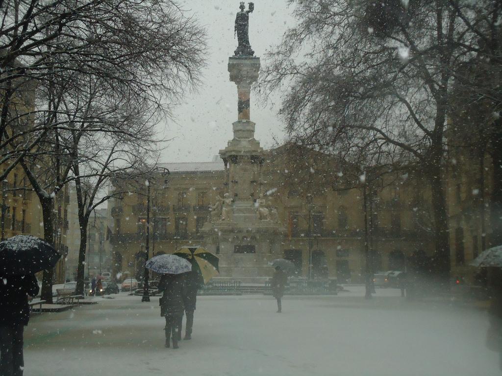 Iruña nevado. Foto: Araceli Markotegi.
