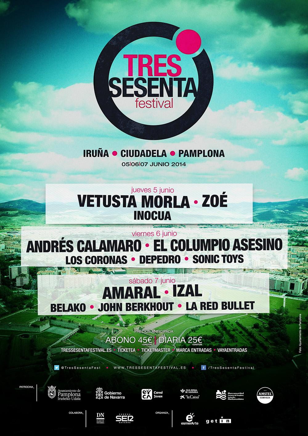 Este es el cartel del festival. La imagen está sacada de la web http://tressesentafestival.es/.