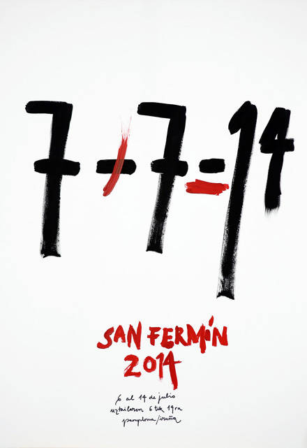 Cartel finalista para los Sanfermines 2014: 7+7=14