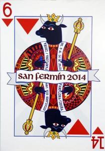 Cartel finalista para los sanfermines 2014: REY DE SANFERMINES