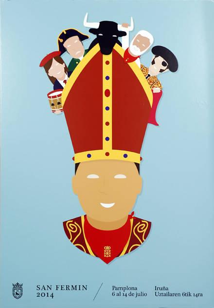 """""""Equipazo"""", así se llama el cartel para estos sanfermines. Es obra de Ignacio Doménech."""