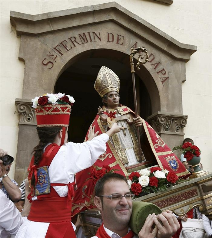 San Fermín Txikito 2014 en Pamplona. Foto: EFE