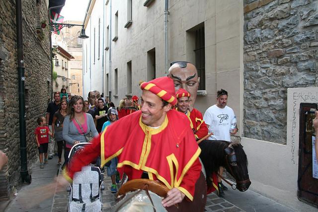 San Fermin Txikito en Pamplona. Foto: Isidoro Francisco Arbizu