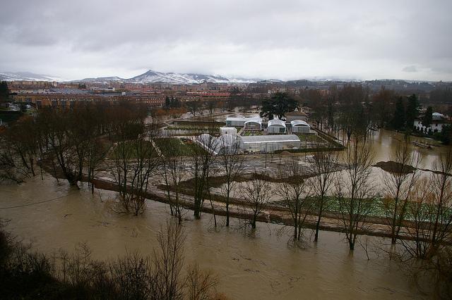 La zona de Aranzadi es una inundación. Foto: Javier Cuadrado