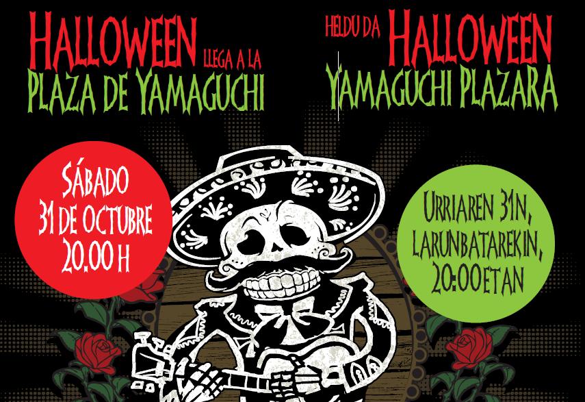 La noche de Halloween en la plaza Yamaguchi