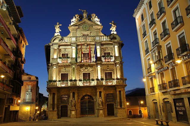 Ayuntamiento de Pamplona. Foto de Jesus Angel Arana