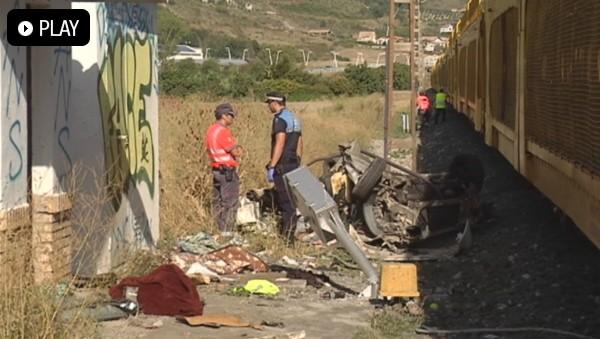 Dos personas murieron en septiembre arrolladas por un tren de mercancías en Berriozar. Foto: EiTB