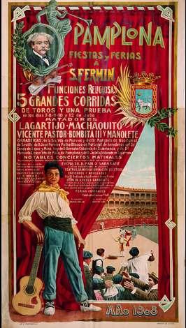 Cartel San Fermín 1908. Foto: sanfermin.com