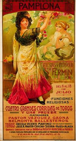 Cartel San Fermin 1916. Foto: sanfermin.com