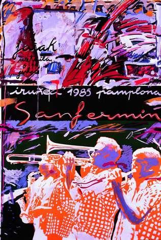 Cartel San Fermin 1985. Foto: sanfermin.com