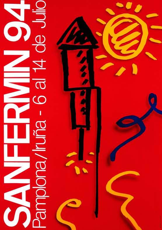 Cartel San Fermin 1994. Foto: sanfermin.com