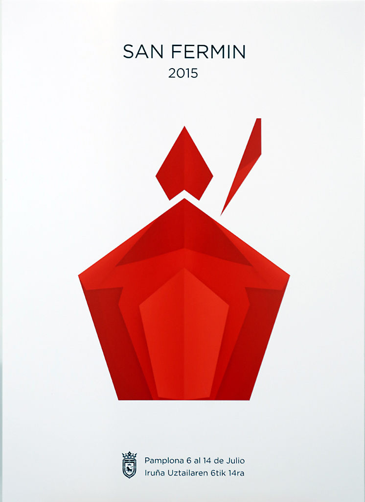 Cartel finalista para los sanfermines 2015