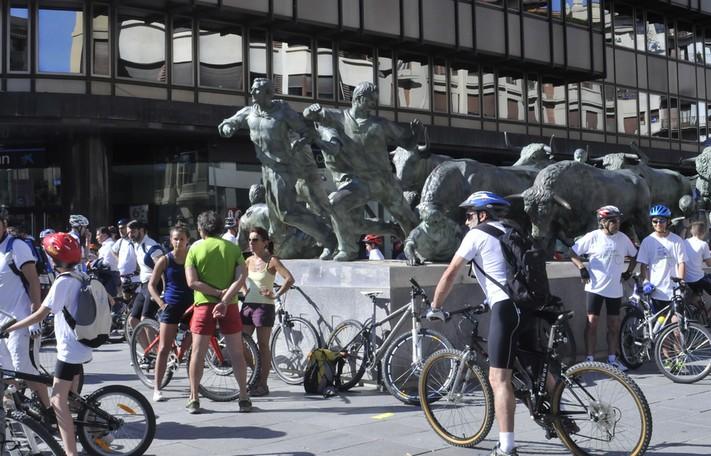 Día de la bicicleta en Pamplona. Foto: Peña ciclista El Gesto.