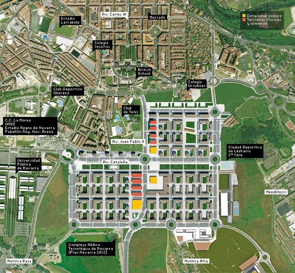 Nueva urbanización en Lezkairu. Foto: pamplonaactual.com