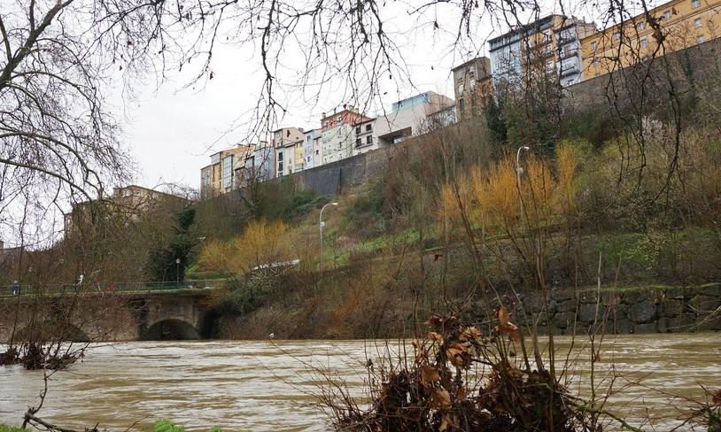Río Arga, en Rochapea. Foto: Néstor Martínez