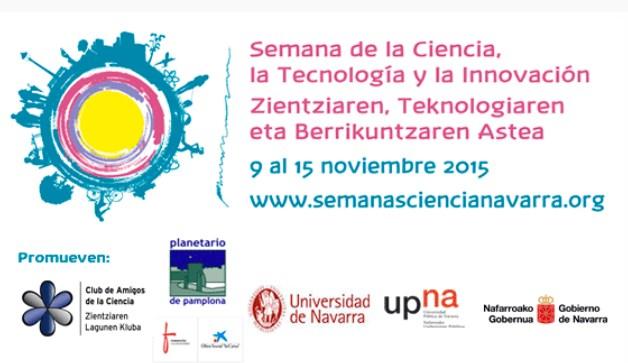 Cartel de la Semana de la Ciencia, Tecnología e Innovación en Pamplona 2015